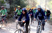 Cycle rally for 'Green living, Healthy living'