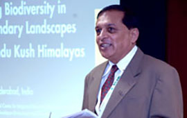Dr. Eklabya Sharma, Director of Programme Operations of ICIMOD delivering a speech. Photo courtesy: Amar G.