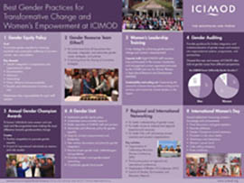 Best Gender Practices for Transformative Change and Women's Empowerment at ICIMOD