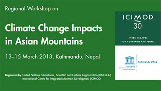 Regional Workshop on Climate Change Impacts in Asian Mountains