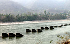 Diversion structures at the intake of the Sunsari Morang Irrigation System upstream of Chatara