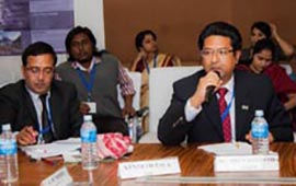Mr Kenneth M Pala, GIZ, and Dr Arun Bhakta Shrestha, ICIMOD