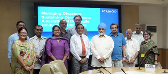 Members of the Planning Commission and the representatives of ICIMOD after the meeting