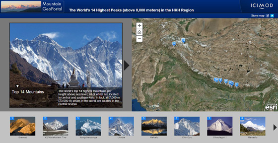 A map-based story about the HKH's highest peaks bags a