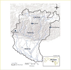 Map of the Koshi River Basin