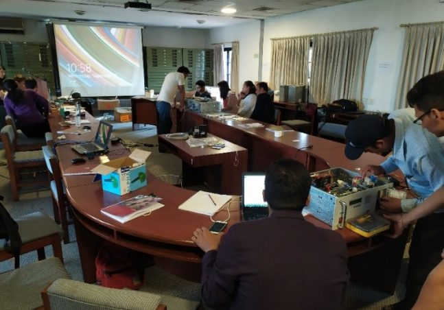 The workshop on environment dust monitoring instrument operation and maintenance build skills of participants from Nepal and Bhutan in handling the Grimm Environment Dust Monitor model 180, which measures particular matters