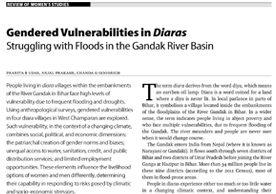 Gendered Vulnerabilities in Diaras