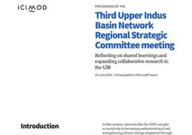 Proceedings of the Third Upper Indus Basin Network Regional Strategic Committee meeting