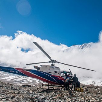 ICIMOD experts provide information to support helicopter relief and rescue missions
