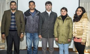 1st batch of Atmosphere Initiative's Phd students