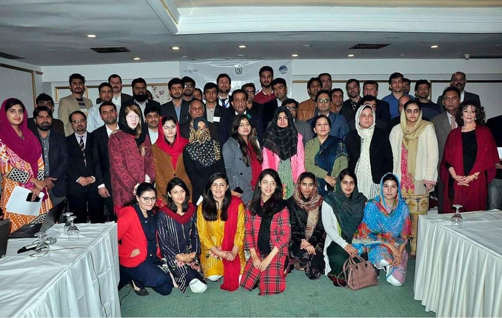 Malik Amin Aslam, Adviser to the Prime Minister of Pakistan for Climate Change, with the participants
