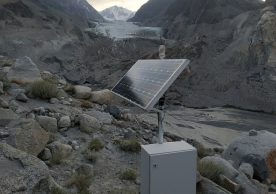 Early warning equipment installed at Passu Glacier