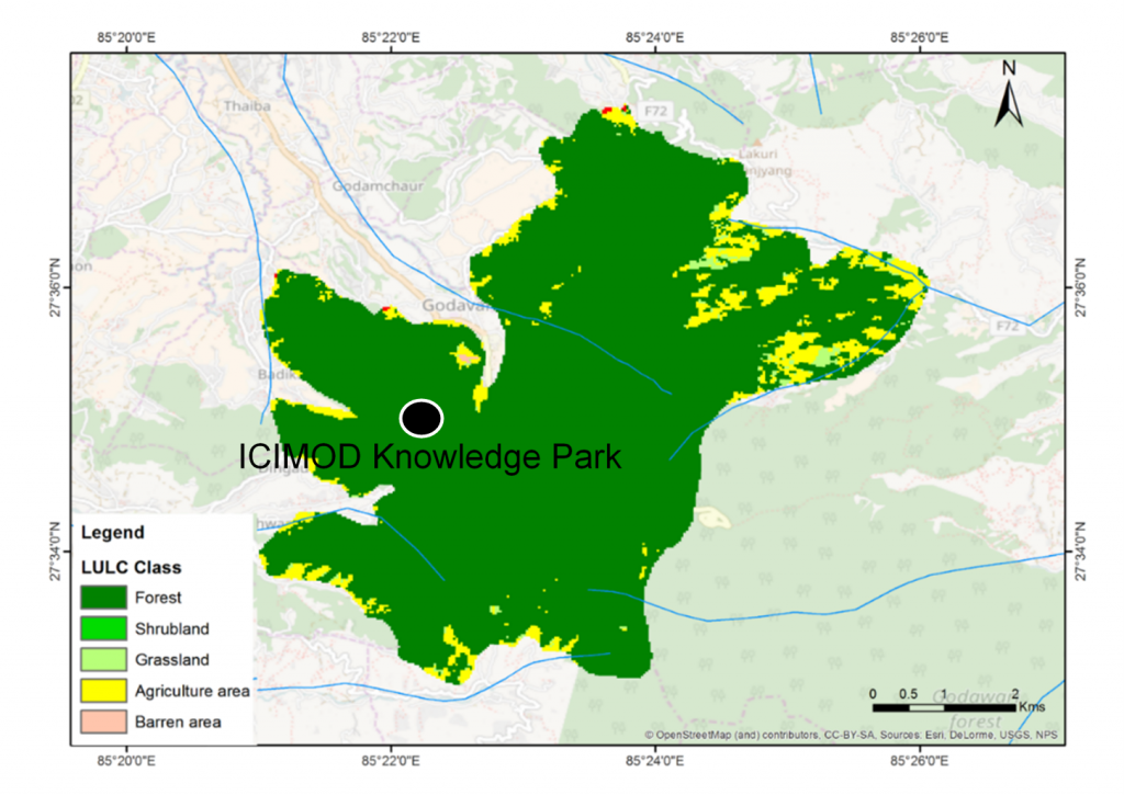 Land use and land cover of the Godavari Landscape