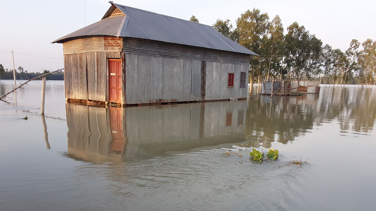 Heavy monsoon rain has caused widespread flooding and inundation in Bangladesh