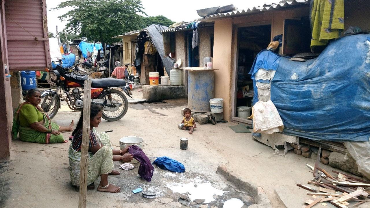 an informal settlement in Bengaluru India