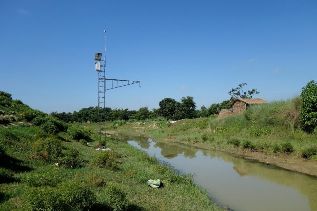 CBFEWS instrument at Ratu River in Bhittamore, Bihar, India