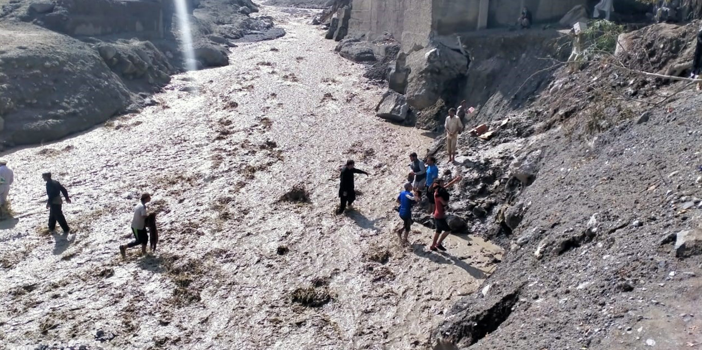 In Reshun village of Upper Chitral, a flash flood washed away
