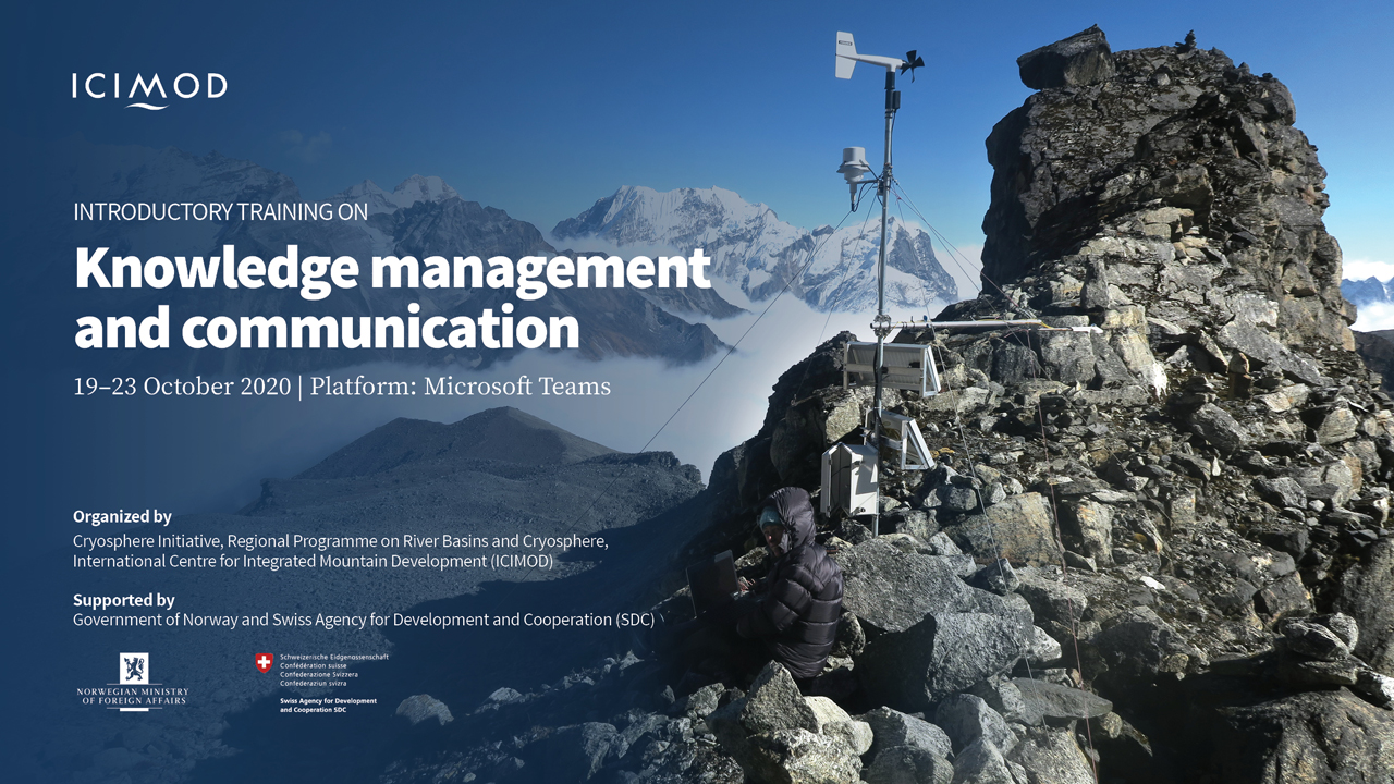 Introductory training on knowledge management and communication