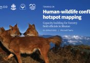 Human and Wildlife Conflict (HWC) mapping: Capacity building for forestry field officials in mapping HWC hotspots in Bhutan