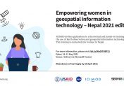 Empowering women in geospatial information technology – Nepal 2021 edition