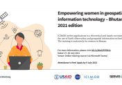 Empowering women in geospatial information technology – Bhutan 2021 edition