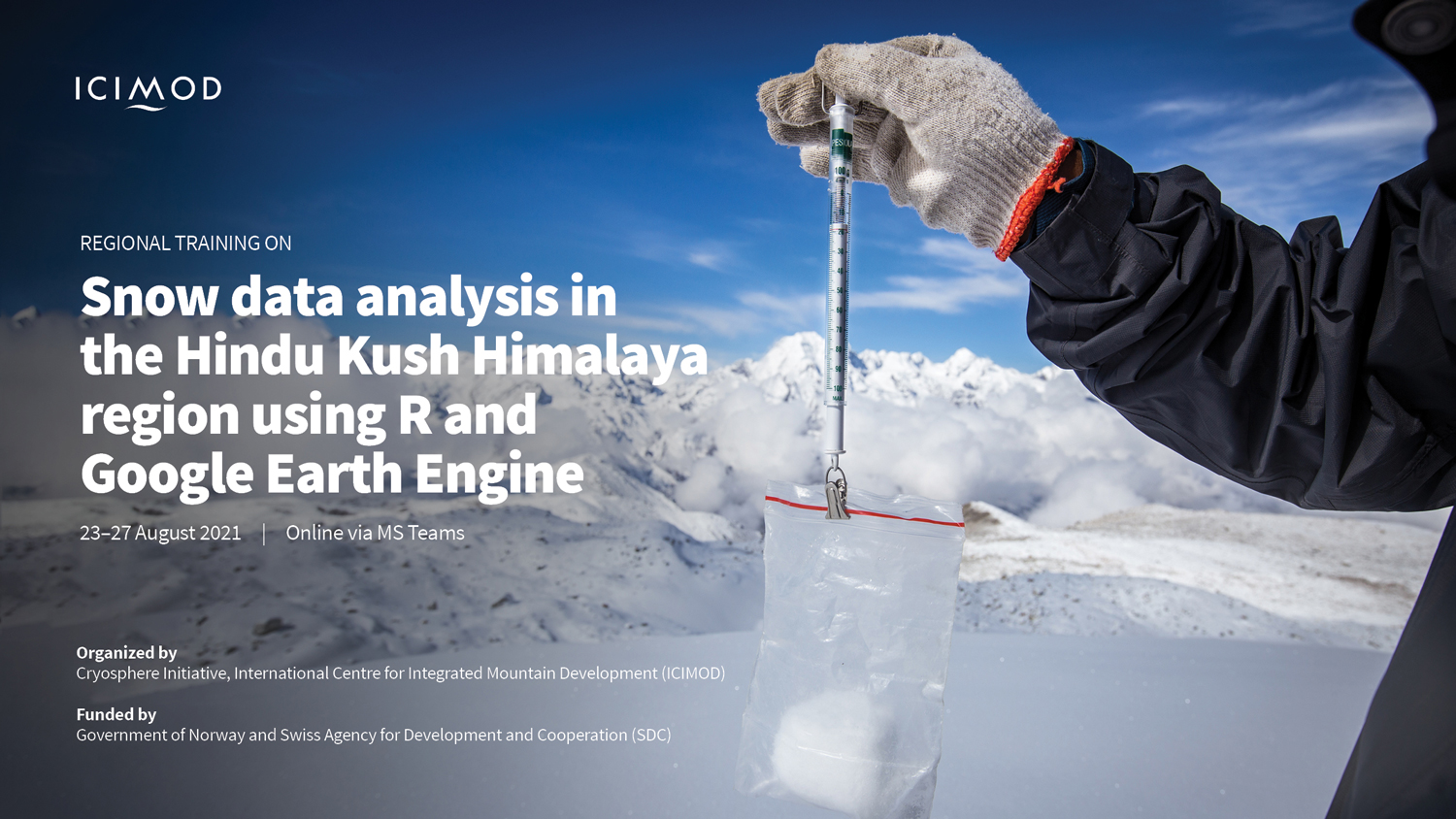 Snow data analysis in the HKH