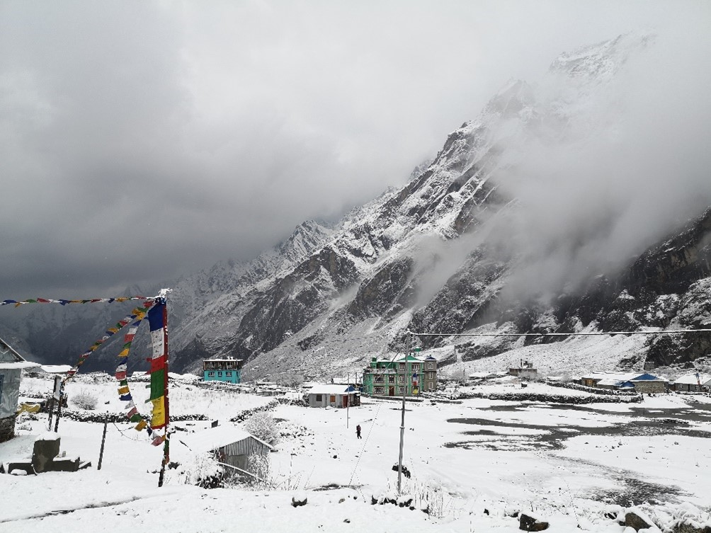 Langtang covered in snow